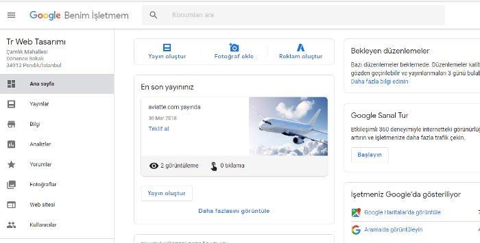google işletme