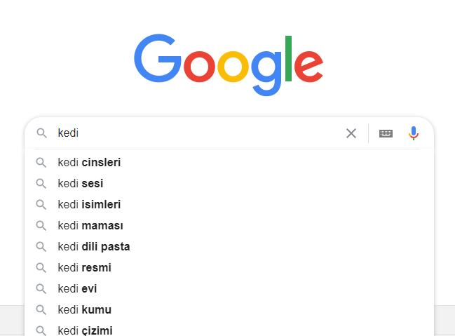 Google Suggest Örneği