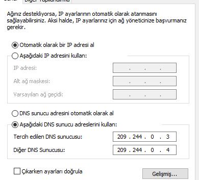 DNS ayarları nasıl değiştirilir? (Windows 10)